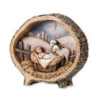 Baby Jesus With Lamb Nativity Scene Woodland Rustic Christmas Decoration