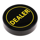 Black Acrylic Poker Dealer Button for Party Casino Board Game Accessory