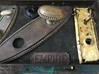 Antique Brass lot Old House Back Plates knobs Architectural Salvage Repurpose