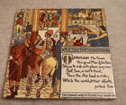 Antique Walter Crane Illustrated Wheeling Pottery Fable Tile Art Nouveau