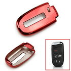 Chrome Red TPU Key Fob Case For Dodge Charger Challenger Jeep Chrysler, etc