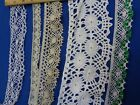 ASSORTED STYLES OF CROCHET SEWING LACE TRIM AROUND 50 yards