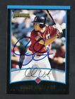 Chase Utley Signed 2001 Bowman RC Rookie Autograph AUTO JSA SOA Sticker