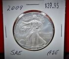 2009 Silver American Eagle BU 1 oz Coin US 1 Dollar Uncirculated from PCGS Tube
