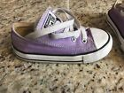 Converse Kids All Star Chuck Taylor Sneakers Shoes Purple Infant Size 8