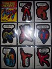 1975 MARVEL COMIC BOOK HEROES STICKERS & CHECKLIST CARD SET(40+9) TOPPS *NMMT*