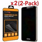 2 Pack Privacy Anti Spy HD Tempered Glass Screen Protector for Samsung Galaxy S7