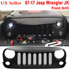Custom Matte Black Angry Eyes Grille Grid For 2007 2017 Jeep Wrangler JK ABS QC