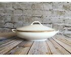 Vintage White Tureen With Lid, Shabby Chic Tureen
