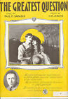 GREATEST QUESTION SheetMusic Greatest Question Lillian Gish DW Griffith 1920