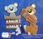 Smores Bears Premade Paper piecing set  by scrappintoday