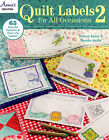 Quilt Labels 2 for All Occasions Book 65 iron on transfers and Trace on Labels
