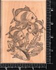 Mostly Animals Wood Mounted Rubber Stamp School of thinking