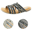 Not Rated Caviar Womens Strappy Studded Slip on Dress Sandal Shoes