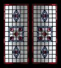 Beautiful Victorian Rondels Pair Antique English Stained Glass Windows