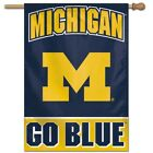 MICHIGAN WOLVERINES GO BLUE 28X40 BANNER FLAG BRAND NEW FREE SHIPPING WINCRAFT