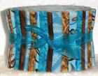 Jelly Roll 20 Strip Quilting Fabric 100 Cotton 25 Turquoise Blue White Brown
