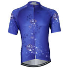 Violet Summer Men Cycling Jerseys Short Sleeve Clothing Shirts Jackets S-3XL