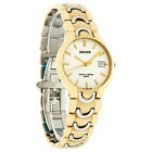 Jaguar Mens Gold Tone Plated Stainless Steel White Dial Swiss Watch 422-3