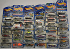 Hot Wheels Collection Lot of 49 Different Models + Bonus Storage Case with tags