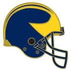 MICHIGAN WOLVERINES HELMET COLLECTOR PIN BRAND NEW WINCRAFT