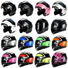 1Storm Motorcycle Modular Full Face Helmet Flip up Dual Visor Sun Racing Series