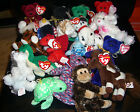 W-F-L TY Beanies Key Ring Selection Key Clip Stuffed Toy Teddys Animals