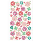 Sticko Scrapbooking Stickers Foil Flower Tropics Purple Pink Teal Spring Blooms