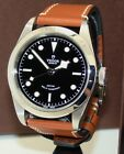 TUDOR STAINLESS STEEL HERITAGE MENS BLACK BAY AUTOMATIC WATCH MINT BOX/PP 79540