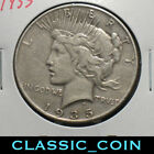 1935 SILVER PEACE DOLLAR 1 VF DETAILS SCARCE DATE FREE SHIPPING
