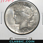 1934 S SILVER PEACE DOLLAR 1 FINE DETAILS POLISHED TOUGHER DATEFREE S H