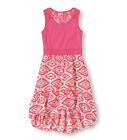 NWT Girls XS 4 Childrens Place High Hi Low Pink Print Dress Lace on Back 2495