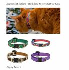 Lupine Cat Lifetime Safety Breakaway Cat Collars 1 2 x 8 12 PICK PATTERN