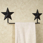 Primitive *Black Barn Star `Towel Bar` The Country House Collection *16 inch