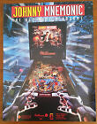 Original Williams JOHNNY MNEMONIC Pinball Flyer Vintage Collectible