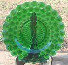 Vintage Anchor Hocking FOREST GREEN Glass 4 Row Bubble DINNER PLATE 1934-1965 NR