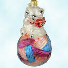 Christopher Radko Kitty Cares Ornament 1997 Pediatric Cancer Charity MWithBox