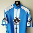 Mens Small Colnago Parentini Blue White Full Zip Cycling Jersey Made Italy