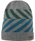 Barts Beanie Knitted Cap Winter Hat Grey Moro Fine Knit Pattern Warm