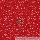 BonEful FABRIC FQ Cotton Quilt Red White Birthday Party America*n Girl Boy Dot S