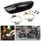 Motorcycle Exhaust Middle Link Pipe Carbon Fiber Protector Heat Shield Cover Kit