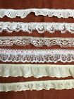 Gathered Lace Lot Over 1375 Yds Total 6 different Cuts Ivory