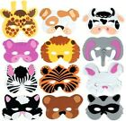 12 Foam Zoo Animal Kids Mask Assorted Party Favor Play Lion Tiger Bear Pig Cat