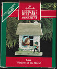 1990 Hallmark Irish Windows of the World Ornament Dated NIB NEW IN BOX