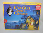 What God Wants For Christmas Interactive Kid Nativity Family Life Publishing New