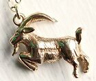 ANTIQUE 9CT GOLD GOAT NECKLACE Birthday Year Zodiac Sign Charm RAM ARIES UK HM