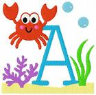 Sea Crab Summer Machine Embroidery Monogram Font Designs Set CD Joyful Stitches