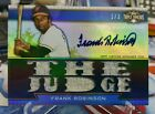 2011 FRANK ROBINSON Triple Threads Game Used Worn Jersey Auto Orioles SP 1 3