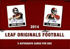 2014 LEAF ORIGINALS FOOTBALL HOBBY 12 BOX CASE