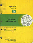 JOHN DEERE 6110 to 6510  TRACTOR SERVICE INFORMATION  MANUAL jd